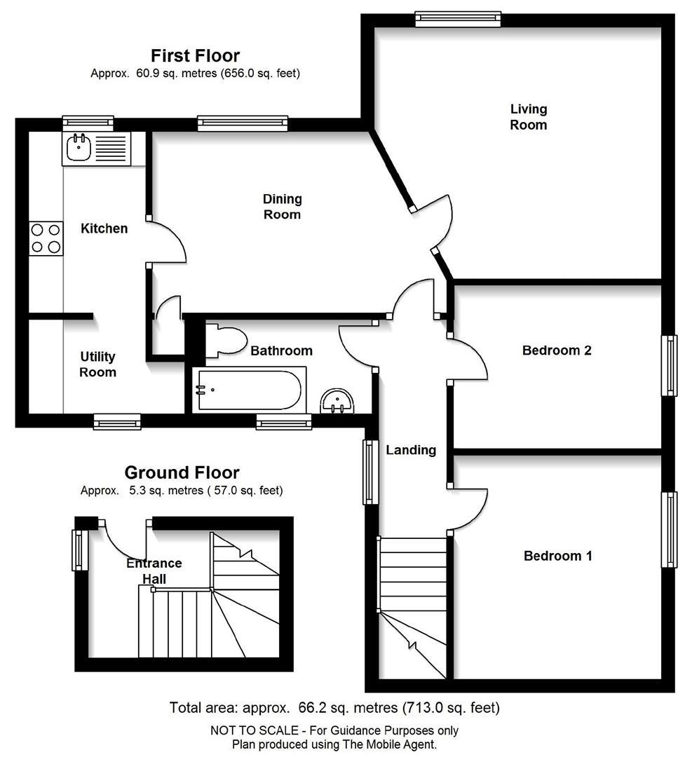 Floor plan Tiverton Way, Cambridge